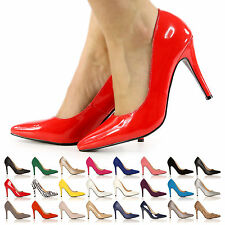LADIES HIGH HEELS NEW STILETTO COURT SHOES CASUAL HEELS SIZE 3-8