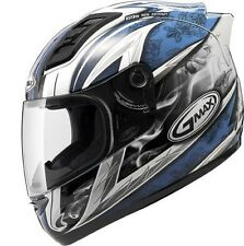 *Free 2-Day Shipping* GMAX GM69 Crusader2 (White/Blue) Motorcycle Helmet