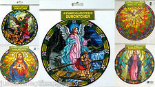 Various Titles Window Sticker Sun Catcher Stained Glass Effect Religious Gift