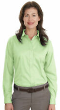 Port Authority Women's Casual Open Collar Long Sleeve Cotton Twill Shirt. L638
