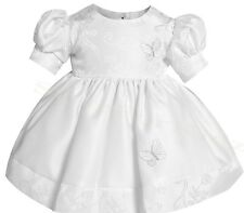 b1011 WHITE dress and cloche hat christening formal wedding