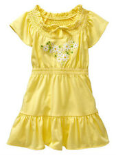 NWT Baby GAP Embroidered Daisy Dress Ruffle Trim flutter sleeves NEW Yellow
