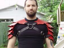 Hardened leather dragon scales double shoulder armor, high quality!!  SCA, LARP