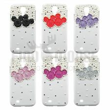 3D Pearl Bling Handmade Crystal Mickey Mouse /Minnie Mouse Case for Galaxy S4
