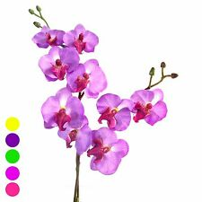 "17"" Artificial Phalaenopsis Orchid Silk Flower Stem WEDDING Home Tabletop desk"