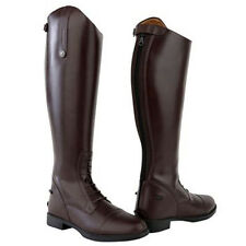 ADULTS EQUESTRIAN RIDING SHOWING DRESSAGE JODHPUR LEATHER LONG BOOTS SIZE 3-10
