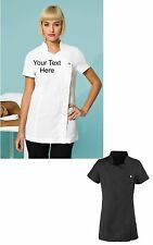 NEW Personalised Embroidered Short Sleeve Tunic For Beauty Salon Spa Etc. 2cols