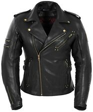 "*Fast Shipping* POKERUN Marilyn ""Womans"" (Black) Leather Motorcycle Jacket"