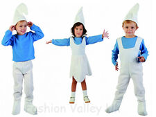 NEW ELF SMURF GNOME BOYS GIRLS TODDLER FANCY DRESS COSTUME AGE 2-4 YEARS OUTFIT
