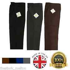 Boys School Trousers Uniform Black Grey Brown Ages 2- 14 Elasticated Waist Smart