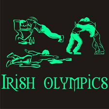 Glow-in-the-Dark IRISH OLYMPICS TShirt Saint St Patrick's Patricks Day Tee S-5XL