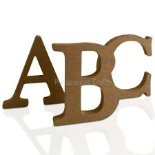 Free Standing Wooden MDF Letters Numbers 18mm Thick 80mm 8cm High
