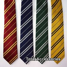 HARRY POTTER HOGWARTS HOUSE NECKTIE - Wizard School Pinstripe Costume Tie - NEW