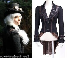 RQ-BL Steampunk Jacke Braun Jacket Brown Coat Victorianisch Gothic Military