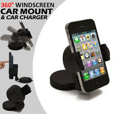 360° Swivel Windscreen+Dashboard Mini In Car Mount Suction Holder Cradle