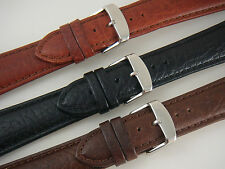 Hadley Roma Mens Sport Wide Strap Genuine Leather Watch Band Strap Tan Brown BLK