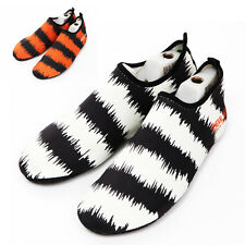 NEW Tiger Aqua Socks Shoes For Water Sports Beach Fitness Pool Yoga Scuba Diving