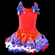 Pettiskirt Tutu 2 pc Patriotic Set 4th of July Pageant Memorial NWT 1-10/12 Yr