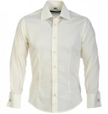 GUIDE DOUBLE CUFF FITTED LONG SLEEVE SHIRT CREAM