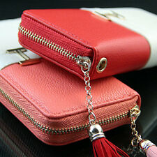 Women Fringe Purse Wrist Clutch Lady Wallet Zip Around Tassel Trap Card Slot Bag