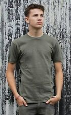 German Army Surplus Olive Green T-Shirt Tee Top Military 100% Cotton Cadets G1