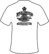 Royal Enfield Retro Style Motorcycle Printed T Shirt in 6 Sizes