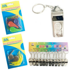 Metal Whistle Referee Lifeguards Sports Blowing Whistles with Coloured String
