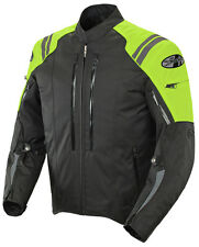 *Ships Same Day* JOE ROCKET Atomic 4.0 (Black/Neon) Waterproof Textile Jacket