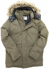 Schott NYC Mens ICEBERG Duck Down Parka Khaki BNWT 100% Authentic by Schott