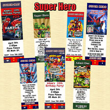 Marvel Super Hero Birthday Invitations Thank You Cards Personalized