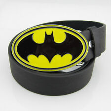 New Cowboy Western SuperHero Batman Mens Metal Belt Buckle leather Belt Costume