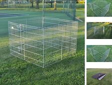 White pet dog cat playpen kennel exercise cage with carry case pet play pen