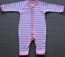 Bonds Stretchies Baby Romper Coverall Bodysuit Onesie size 00 Colour Pink White