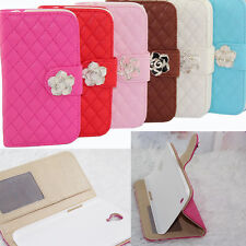Luxury Leather Flip Wallet Stand Case Cover for Samsung Galaxy Mega 6.3 i9200