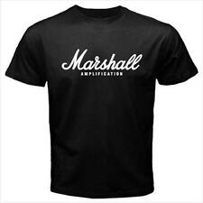 Marshall Amplification Logo Black T-Shirt Size S to 3XL Brand New