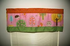 (1)Handmade Love n Nature Valance Owl, Hedgehog, Bird 41in x 14in Select Pattern