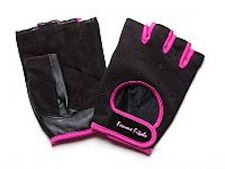 Women's NEW BLACK Femme Fitale Fingerless Gloves Weigh Lifting, Fitness, Gym