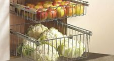 Pull Out Veg Wire Baskets Kitchen Base & Larder Units Cupboards Various Sizes