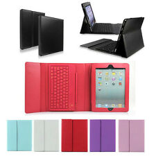 For Apple iPad 3rd 4th 2nd Stand Leather Case Cover With Bluetooth Keyboard Sup