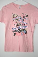 Fall Out Boy FOB Ladies/Juniors SLIM FIT T-shirt, Light Pink, New