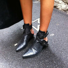 Anna Xi Future Ankle Strap Boots with Back Opening
