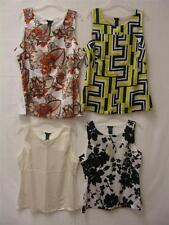 Ann Taylor Women's Sleeveless Silky Front Cotton Back Blouse Assorted Clrs & Sz
