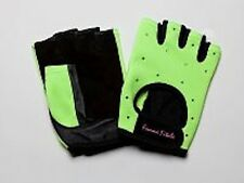 Women's BRIGHT GREEN Femme Fitale Fingerless Gloves Weigh Lifting, Fitness Gym