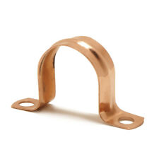 Copper plumbing pipe saddle clip bracket. Dif sizes