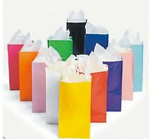 Assorted Color Paper bags AS LOW AS 26¢ ea BIRTHDAY Lunch TREAT Favor Wedding