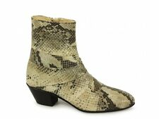 Shuperb GUILLERMO Mens Cuban Heel Spanish Leather Python Snakeskin Zip Boots New