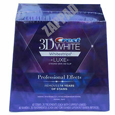 CREST TEETH WHITENING STRIPS SUPREME PROFESSIONAL ADVANCED WHITE STRIP TOOTH