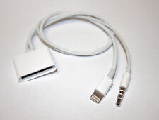 30 Pin to 8 Pin AUX 3.5mm Audio Cable Adapter for Bose Sounddock iPhone 5 Nano
