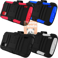 Dual Layer Hybrid ARMOR Case W/ Stand PLUS Holster For LG GOOGLE NEXUS 4 E960