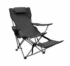 Reclining Armchair w/ Footrest - Foldable chair is great for comfort on-the-go!